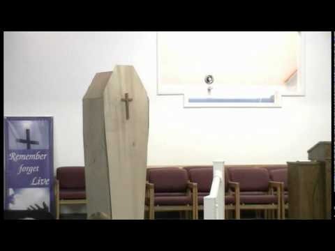 Funny Pastor Falls In Church In Coffin During Easter Service!  Minister Gets Hurt.