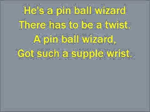 Glee Pinball Wizard  with lyrics