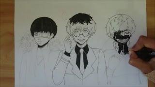 Drawing : KANEKI ken / HAISE sasaki from Tokyo Ghoul