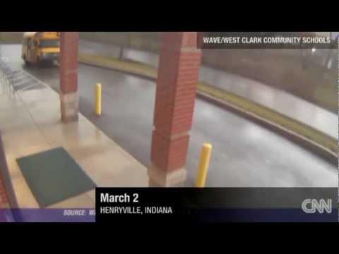 Tornado EF4 destruye escuela cámaras de seguridad en Indiana Estados Unidos 2 3 12 HD