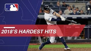 Statcast measures the hardest hits of 2018