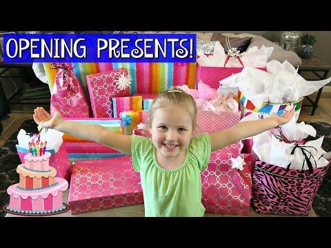 GRETCHEN S 4TH BIRTHDAY MORNING OPENING PRESENTS