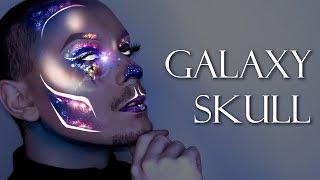 Sexy Holographic Galaxy Skull - Halloween 2017 Makeup Tutorial