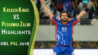 Full Highlights   Karachi Kings Vs Peshawar Zalmi   Match 7   25 February   HBL PSL 2018   PSL