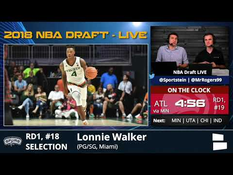 Xxx Mp4 San Antonio Spurs Select Lonnie Walker From Miami With Pick 18 In 1st Round Of 2018 NBA Draft 3gp Sex
