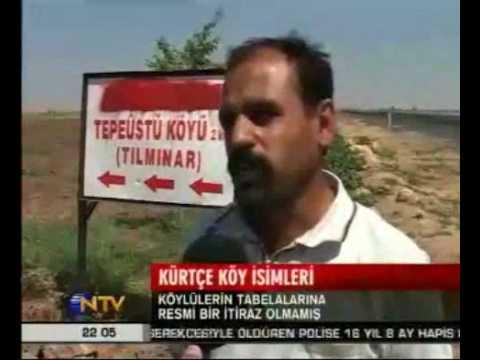 Kürt Açılımı Kürtçe Köy İsimli Tabelalar Dikilmeye Başlandı Mardin 20.8.09