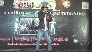 Akshay Singh's performance at the Young waves inter college cultural competition.