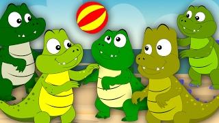 Five Crocodiles Went Swimming One Day   Nursery Rhymes   Kids Songs   Childrens Video   Baby Rhymes