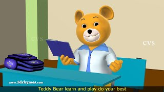 Teddy Bear Song -3D Animation Teddy Bear Nursery Rhyme for Children
