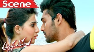 Alludu Seenu Saves Samantha From An Accident - Alludu Seenu Movie Scenes