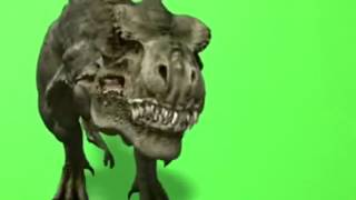 Green screen T-Rex dinosaur + Sound - FREE Editing Stock