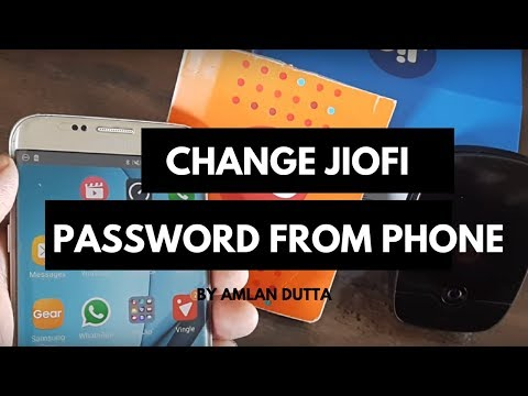 CHANGE THE JIOFI DEVICE PASSWORD FROM YOUR SMARTPHONE ITSELF ? (SUBSCRIBE AND SHARE)