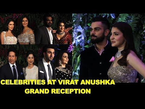 Celebrities at Virat Kohli Anushka Grand Reception in Mumbai
