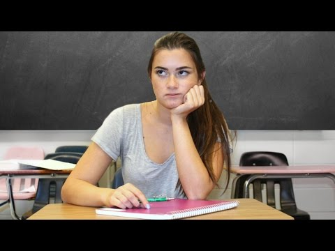 What Girls Think About During School