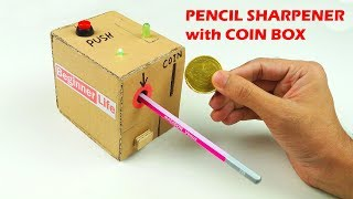 How to Make a PENCIL Sharpener MACHINE with Coin Box - DIY at Home