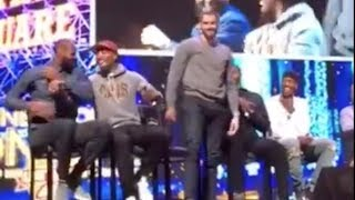 LeBron James & Cavs ROAST Kevin Love for Being a