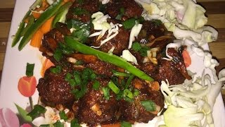 Dry vegetable manchurian recipe in hindi - Market style dry vegetable manchurian recipe at home