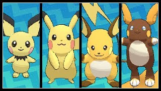 FULL PIKACHU EVOLUTION TEAM!