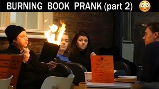 Burning Book Prank🔥 (in the Royal Library) - Julien Magic