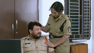 CI With Lady Constable In Police Station || Latest Movie Scenes || 2017