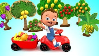 Little Baby Learning Fruits Names with Fruits Toy Set - Learning Kids Children Toddlers Educational