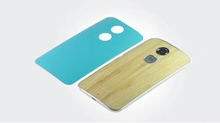 Change Moto X (2014) Back Cover from Green to Bamboo