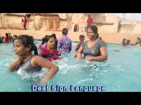 LDS Deaf,family,deaf friends & LDS kids Wave Pool at Wonderla Amusement park:Bangalore:ISL