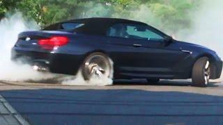 BMW M6 Burnout Sound Donuts Tire Smoke Cabrio V8 Biturbo F12