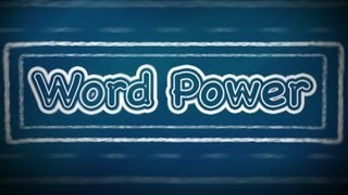 Word Power:  I (Part 1), English Lessons for Beginners