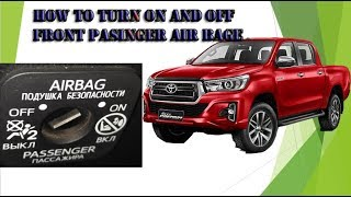 How to turn off and turn on Front passenger Air bag TOYOTA Cars,