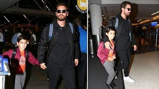 Scott Disick Jets Town With Mason Following HUGE Fight With Kourtney