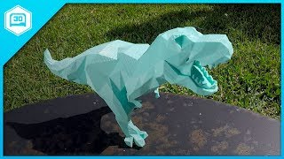 Low Poly T-Rex - 3D Printing Time-lapse