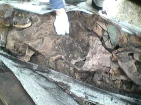 exumação de uma mulher enterrada a 4 anos e 1 més imprecionante