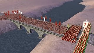 300 SPARTANS vs 3000 ROMANS - Total War: ROME