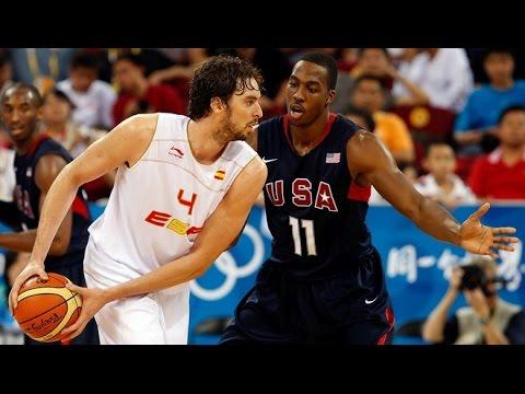 watch Spain vs USA 2008 Beijing Olympics Men's Basketball Group Round FULL GAME HD 720p English