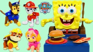 Paw Patrol Cook a Meal on Spongebob Squarepants Barbecue Grill Playset!