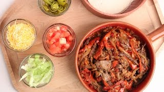 Crock Pot Beef Fajitas Recipe - Laura Vitale - Laura in the Kitchen Episode 877