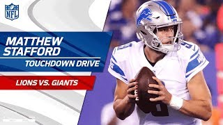 Matthew Stafford Does It All on Opening TD Drive!   Lions vs. Giants   NFL Wk 2 Highlights