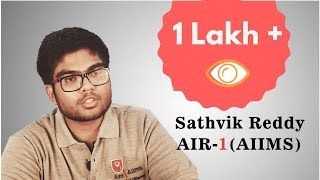 PMT - Medical Entrance Preparation Tips - Rank-1 Sathvik Reddy's