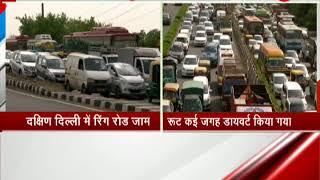 Massive traffic jam in South Delhi on Ring Road
