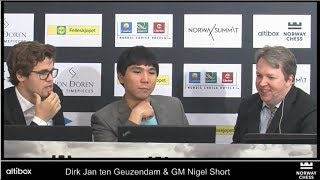 MAGNUS CARLSEN VS WESLEY SO - INTERVIEW AND ANALYSIS AFTER GAME | NORWAY CHESS 2017 ROUND 1