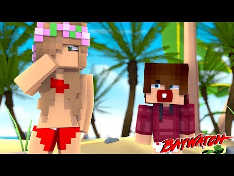 LITTLE KELLY FINDS A BABY ON THE BEACH! | Minecraft BAYWATCH