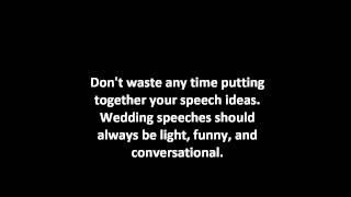 Tips For Writing Wedding Speeches | Groom Wedding Speech