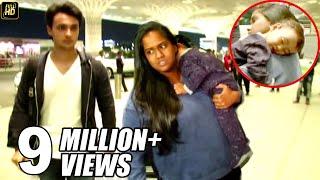 Salman Khan's Sister Arpita With Husband & CUTE Baby Ahil Spotted At Mumbai Airport