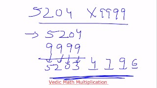 Aptitude shortcut trick for multiplication of any number with Series 999   Team MAST