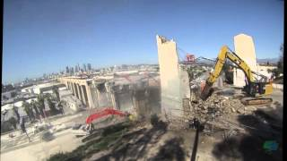 6th Street Viaduct Demolition 40 hour Time Lapse