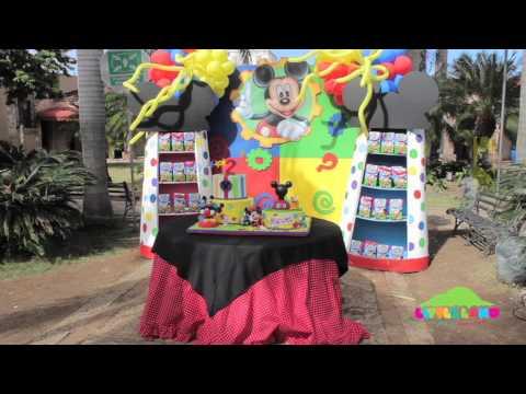Decoracion Cumpleaños Mickey Mouse por Little Land