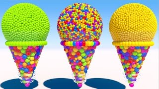 Learning Colors with 3D Cone Ice Cream for Kids and Children
