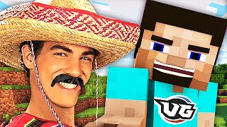 MEXICAN Father and SON Trolling HARD in Minecraft! (Minecraft Voice Trolling)