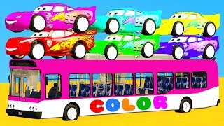 LEARN COLOR McQueen Cars 3 and Superheroes for kids w Spiderman cartoon for children